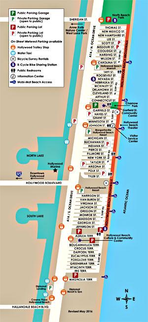 Hollywood Beach Parking map