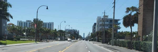 A1A clear of construction cones